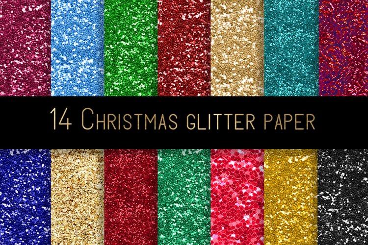 Christmas glitter digital paper example image 1