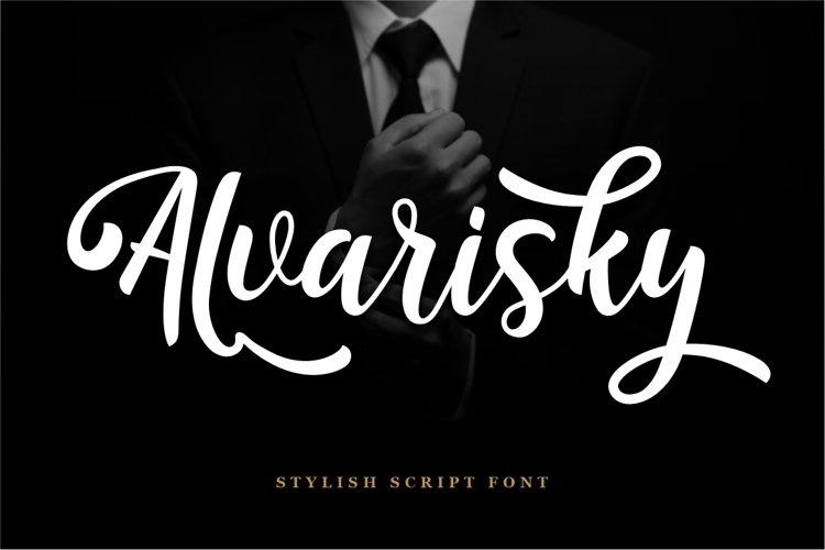 Alvarisky - Stylish Script Font