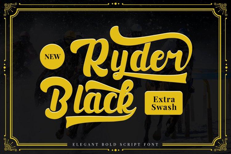 Black Ryder - Bold Script Font