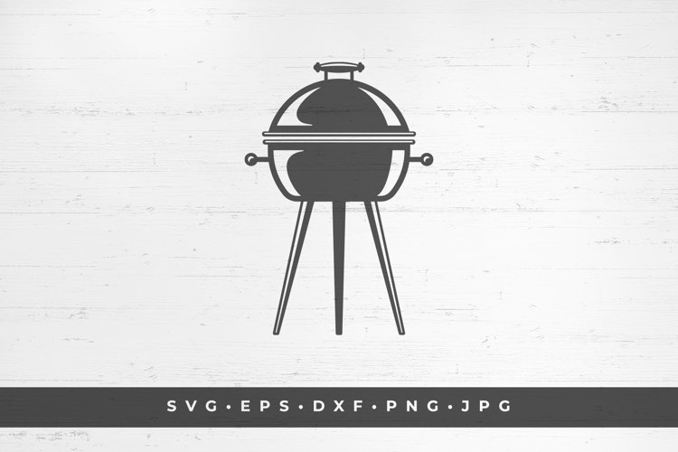 Barbecue grill silhouette vector illustration example image 1