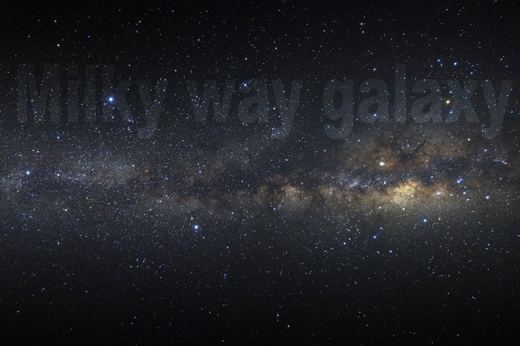 Panorama milky way galaxy