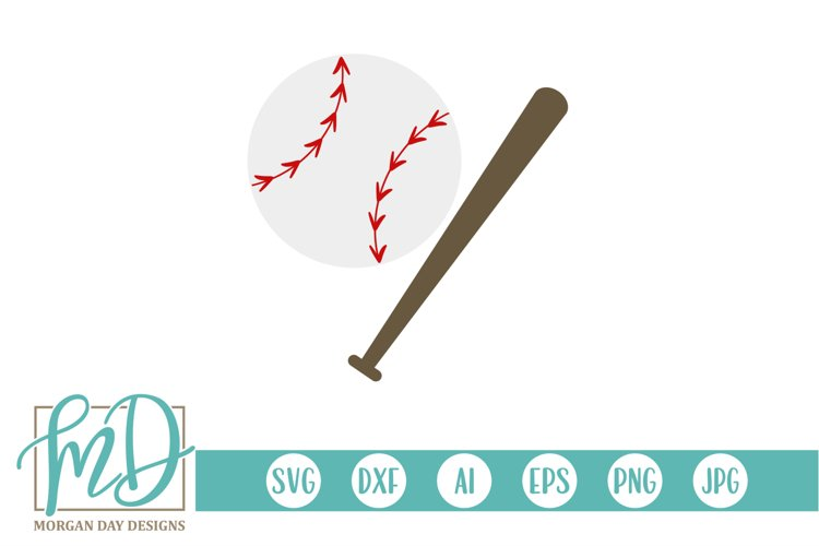 Baseball - Baseball Clipart - Baseball Bat SVG example image 1