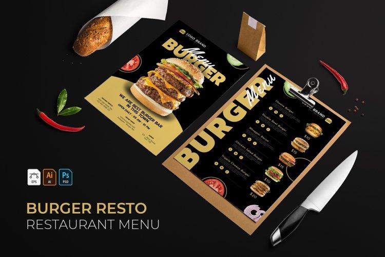 Burger   Restaurant Menu example image 1