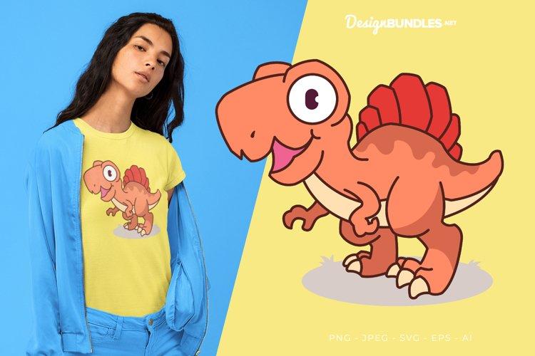 Little Dino Vector Illustration For T-Shirt Design