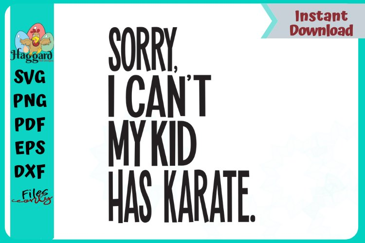 Sorry I can't my kid has Karate example image 1