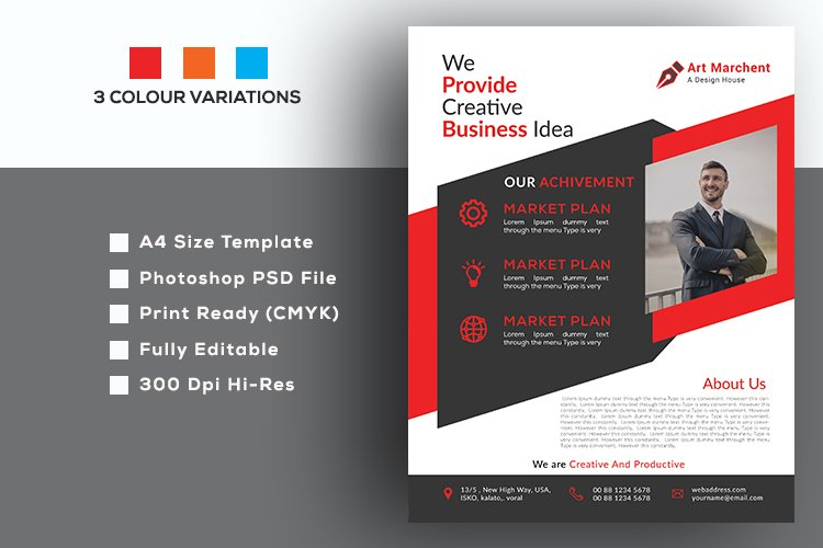 Simple, Marketing And Business Flyer example image 1