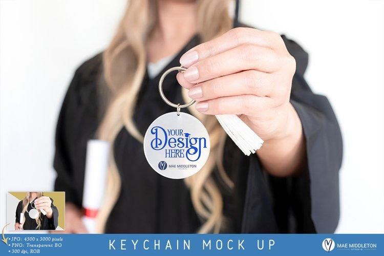 Round Keychain Mock up | Graduation, Styled Photo