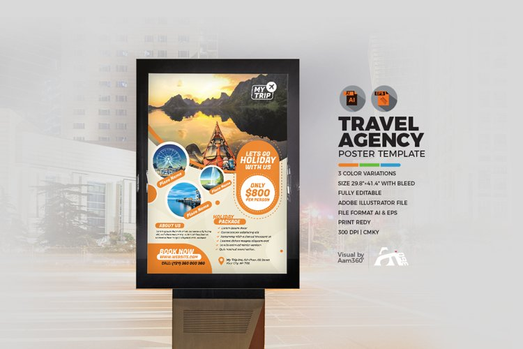 Travel Agency Poster Template example image 1