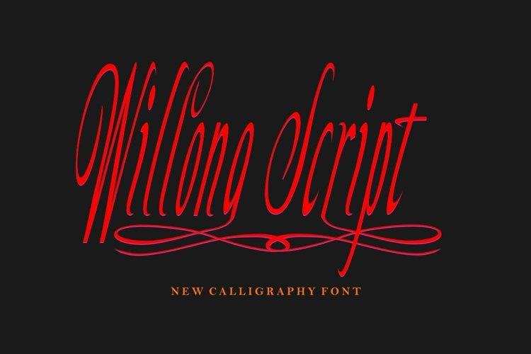 Willona Script example image 1