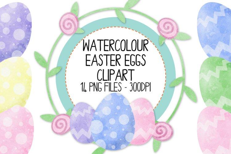 Watercolor Easter Clip Art Set