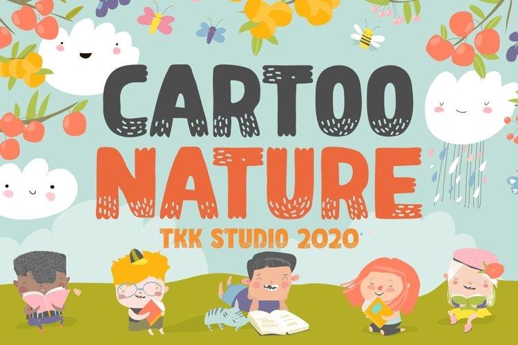 Cartoo Nature - Kids Cartoon Font example image 1