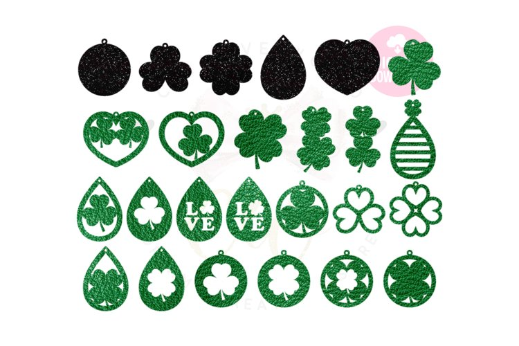 St.Patrick's Day Earring Template |50 Templates Earring svg example image 1