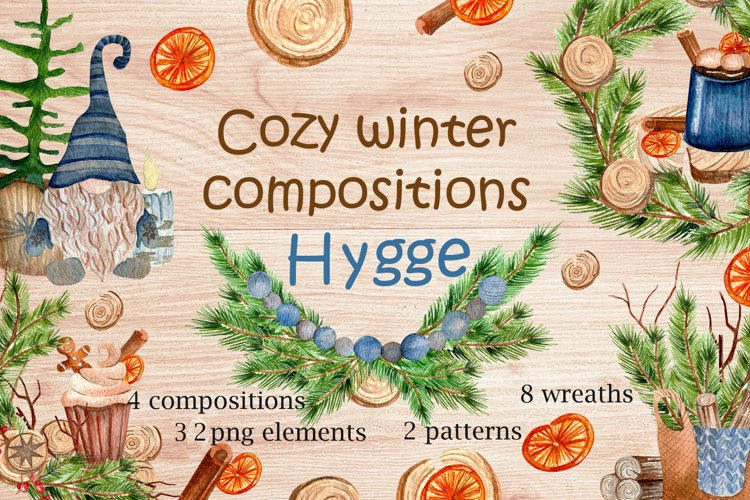 Cozy winter composition. Hygge. example image 1