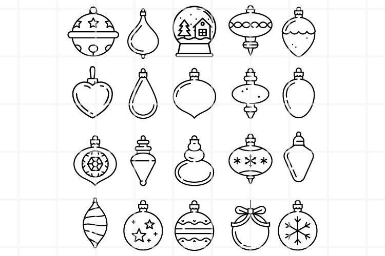 Christmas balls icons. Christmas toys vector files.