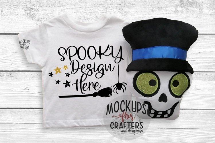 T-Shirt Mock-Up - Halloween theme - Dollarama stuffie