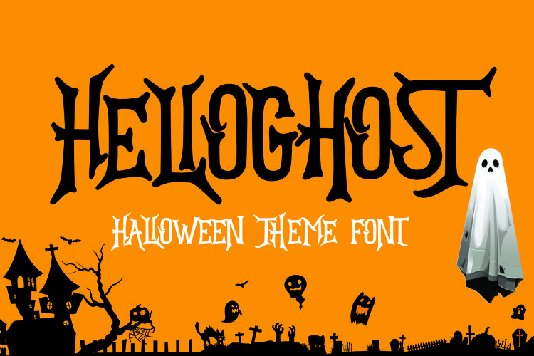 HELLOGHOST - Helloween Theme Font example image 1