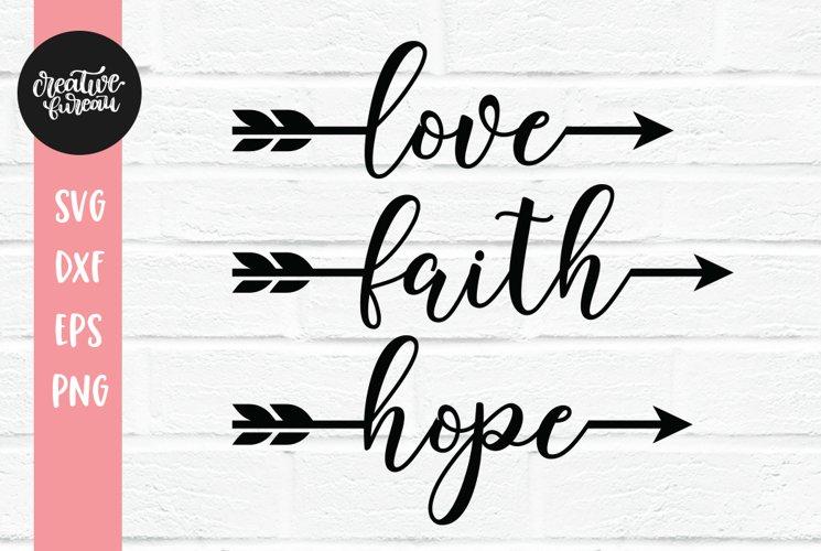Love Faith Hope Svg Dxf Cut Files 329267 Svgs Design Bundles