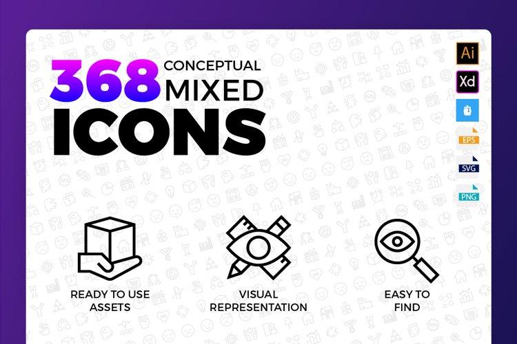 Conceptual Mixed Icons