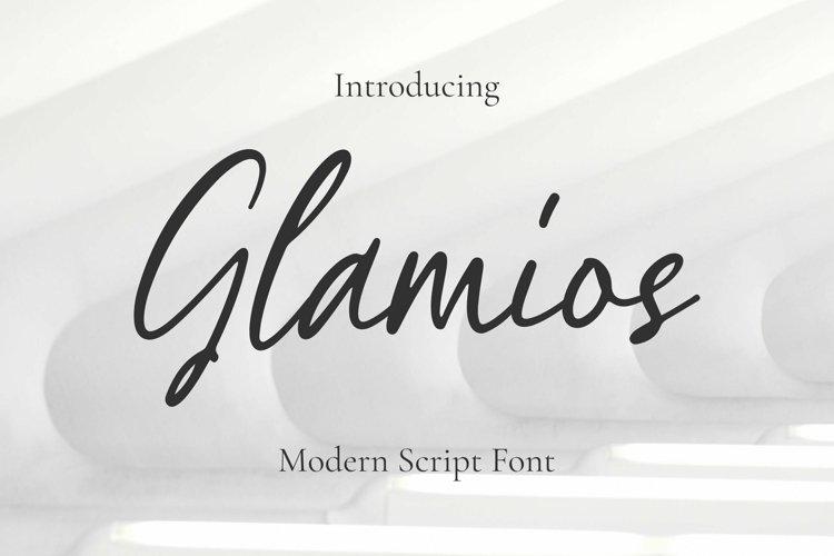 Glamios Font example image 1
