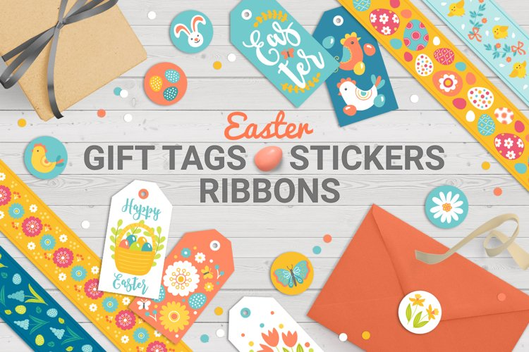 Easter Gift Tags, Stickers, Tapes example image 1