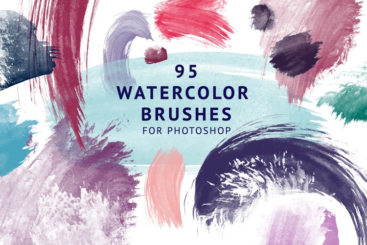 95 Watercolor brushes for PS example image 1