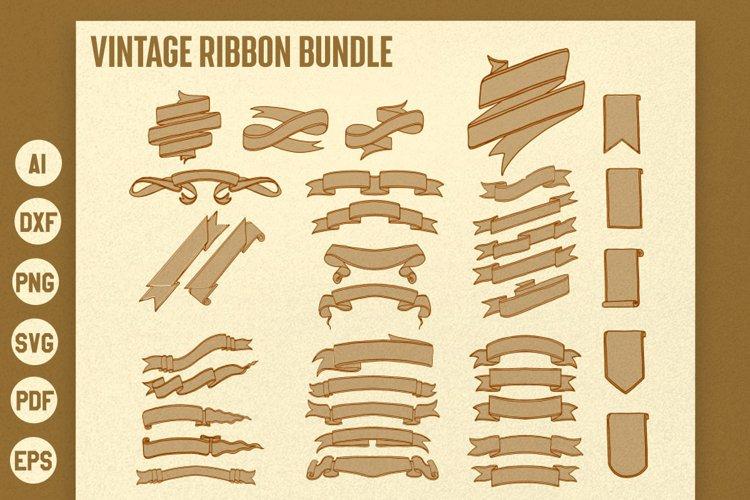 Vintage Ribbon / Banner vector Bundle