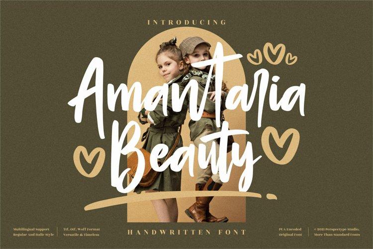 Amantaria Beauty - Cute Handwritten Font example image 1