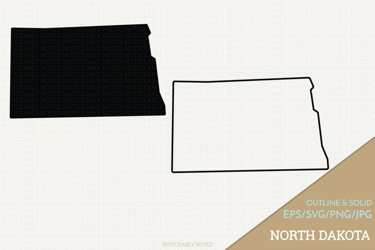 North Dakota Vector / Clip Art example image 1