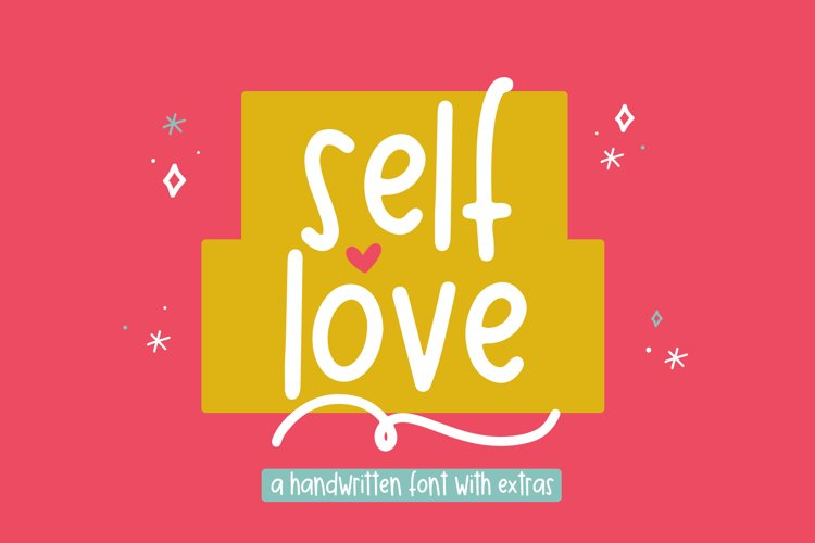 Self Love - A Fun Font with Doodles! example image 1