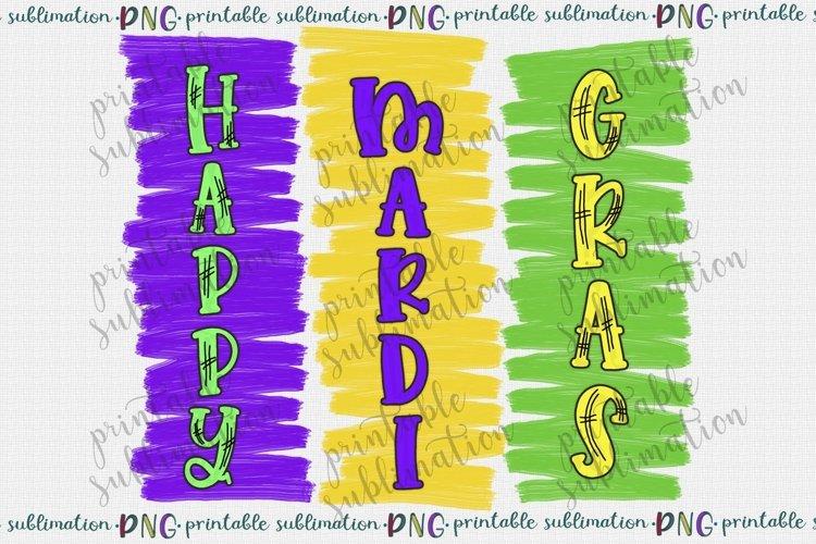 Happy Mardi Gras Sublimation Sublimate png printable design example image 1