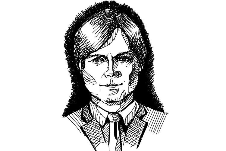 Ink man portrait comics style