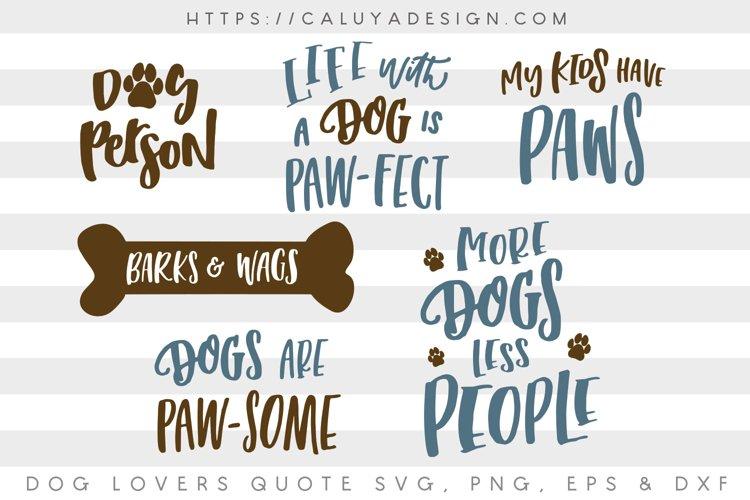 Dog Lovers SVG Cut File Bundle - Free Design of The Week Font