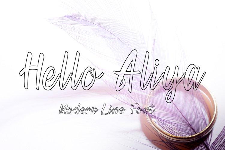 Hello Aliya | Modern Line Font example image 1