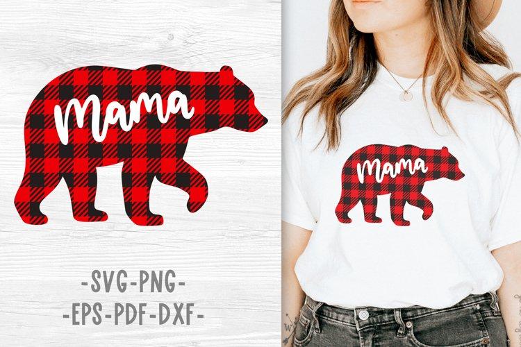 Mama bear svg Mama bear christmas Buffalo plaid christmas example image 1
