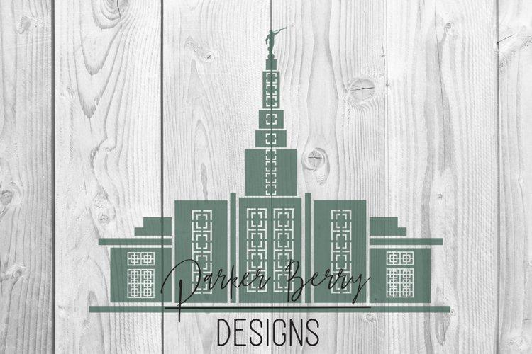 Idaho Falls LDS Temple SVG File
