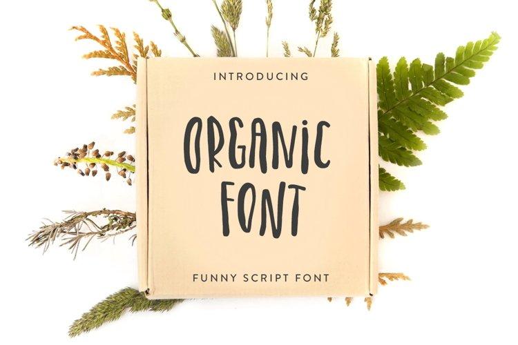 Organic Font example image 1