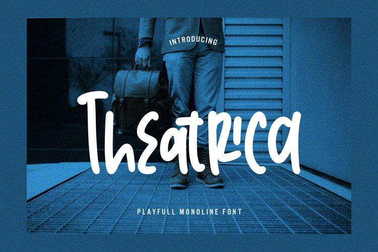 Theatrica - Playfull Monoline Font example image 1