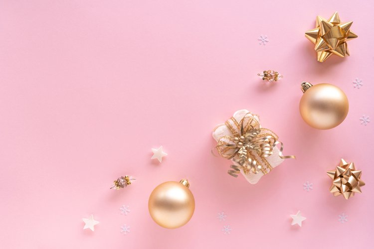 Christmas flat lay stock styled photo
