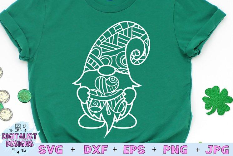 Gnome Zentangle SVG, St. Patricks Day SVG, St Patricks SVG