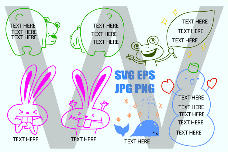 Doodle Frame for writing text - SVG/EPS/JPG/PNG example image 1