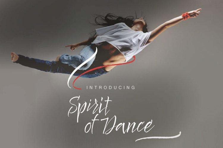 Spirit of Dance Font example image 1
