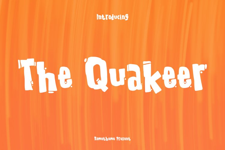 The Quakeer - Display Font example image 1
