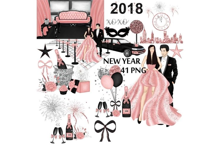 New Years Eve Clipart UPDATED