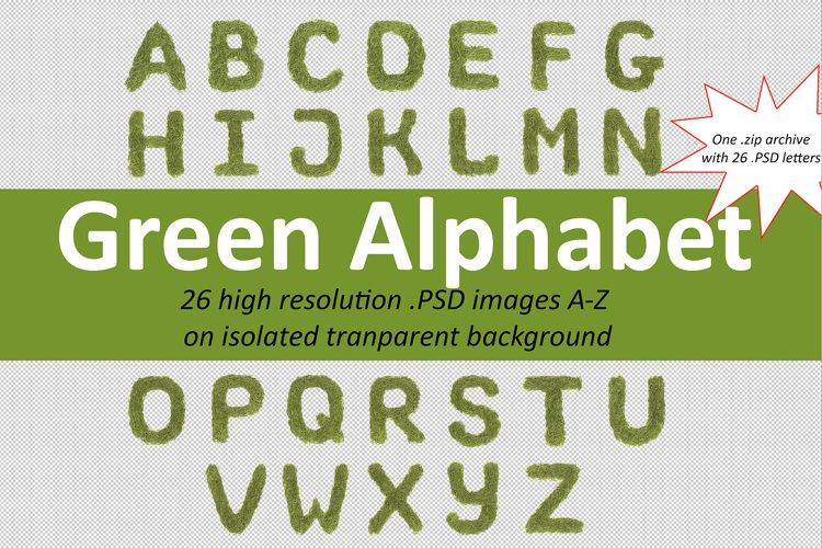 Green font alphabet A-Z example image 1