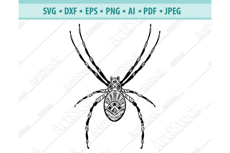 Spider Svg, Spider Mandala Svg, Zentangle Svg, Dxf, Png, Eps