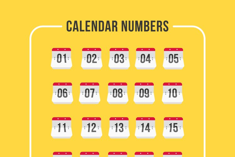 Calendar Number Iconset example image 1