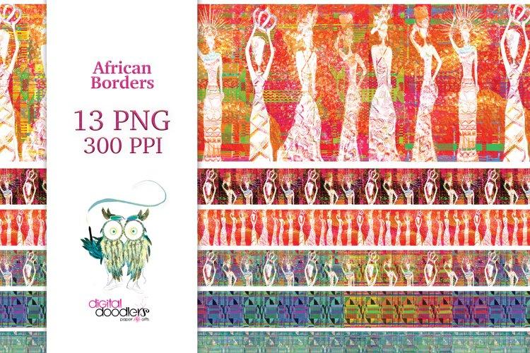 Watercolor African Borders