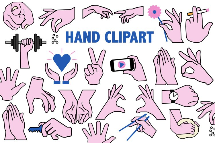 Hands Clipart example image 1