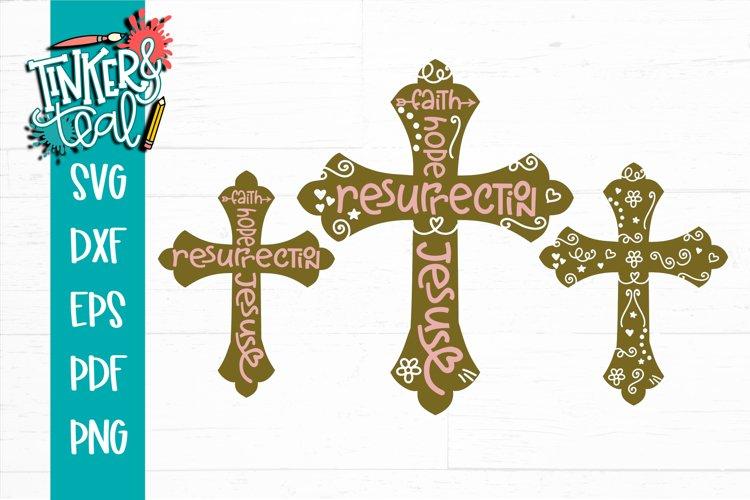 Easter Cross Bundle SVG DXF PNG PDF Cut File