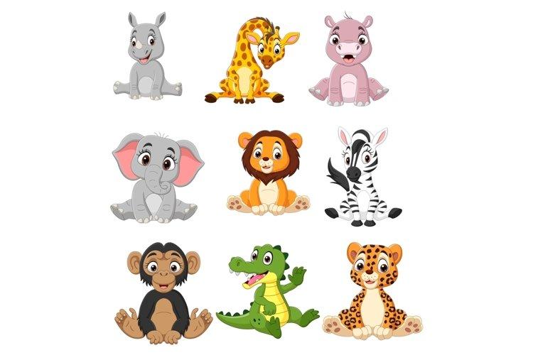 Set of Nine Cartoon Baby Animal Bundle example image 1